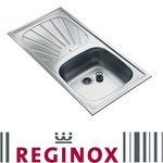 View Item Reginox Alpha 10 1.0 Bowl Satin Stainless Steel Kitchen Sink RP101S